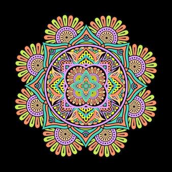 다채로운 만다라 디자인 꽃 벽지 스타일 라마단 스타일 장식 만다라 인쇄용 만다라