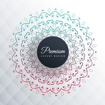 Colorful mandala design on gray background