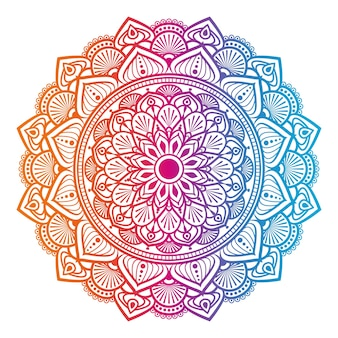 Красочный дизайн мандалы