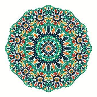 Colorful mandala floral ciramic style geometric pattern