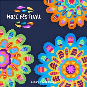 Fondo variopinto di festival di holi della mandala
