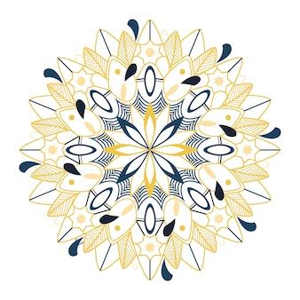 Красочный узор мандалы на белом фоне