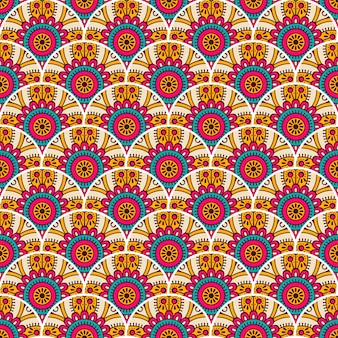 Colorful mandala seamless pattern illustration