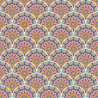 Colorful mandala seamless pattern illustration