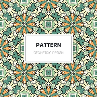 Colorful mandala seamless pattern