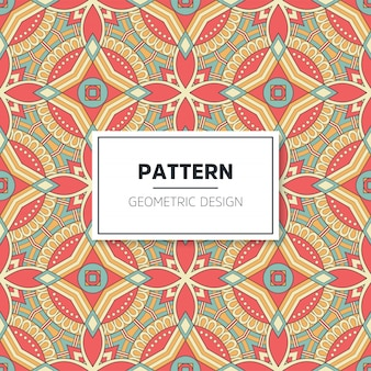 Colorful mandala seamless pattern