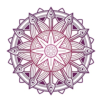Colorful mandala vector design. asian, korean, oriental flower mandala