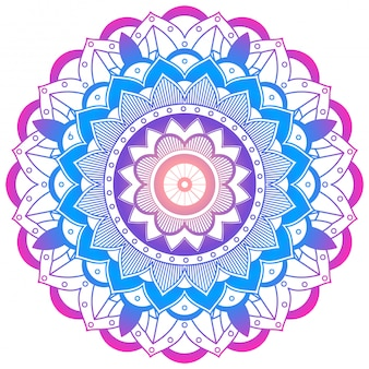 Colorful mandala on white