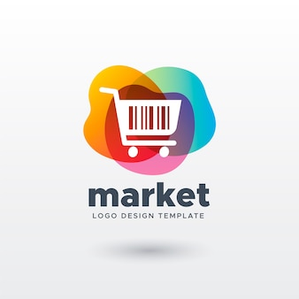 Colorful market logo with gradient