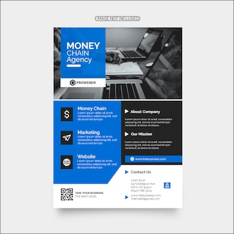Colorful marketing business agency flyer