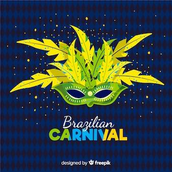 Colorful mask brazilian carnival background