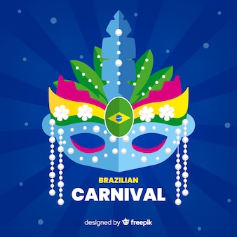 Colorful mask brazilian carnival background
