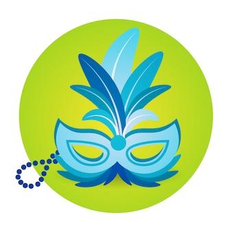 Красочная маска иконка бразилия карнавал рио праздник празднование