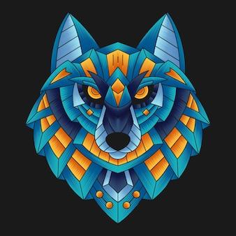 Красочная иллюстрация меха волка