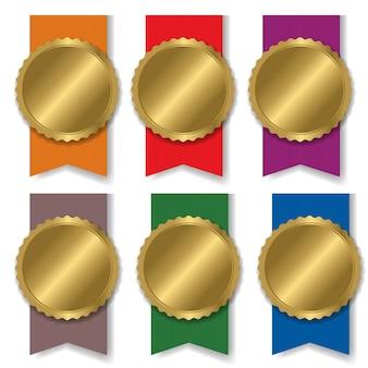 Красочная медаль setblank