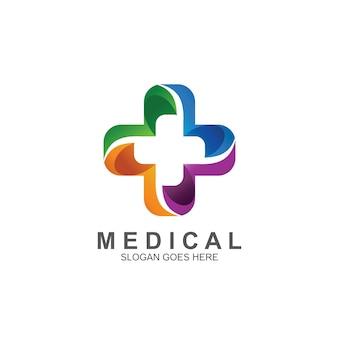 カラフルな医療クロスロゴ