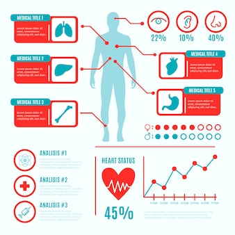 Colorful medical infographic set