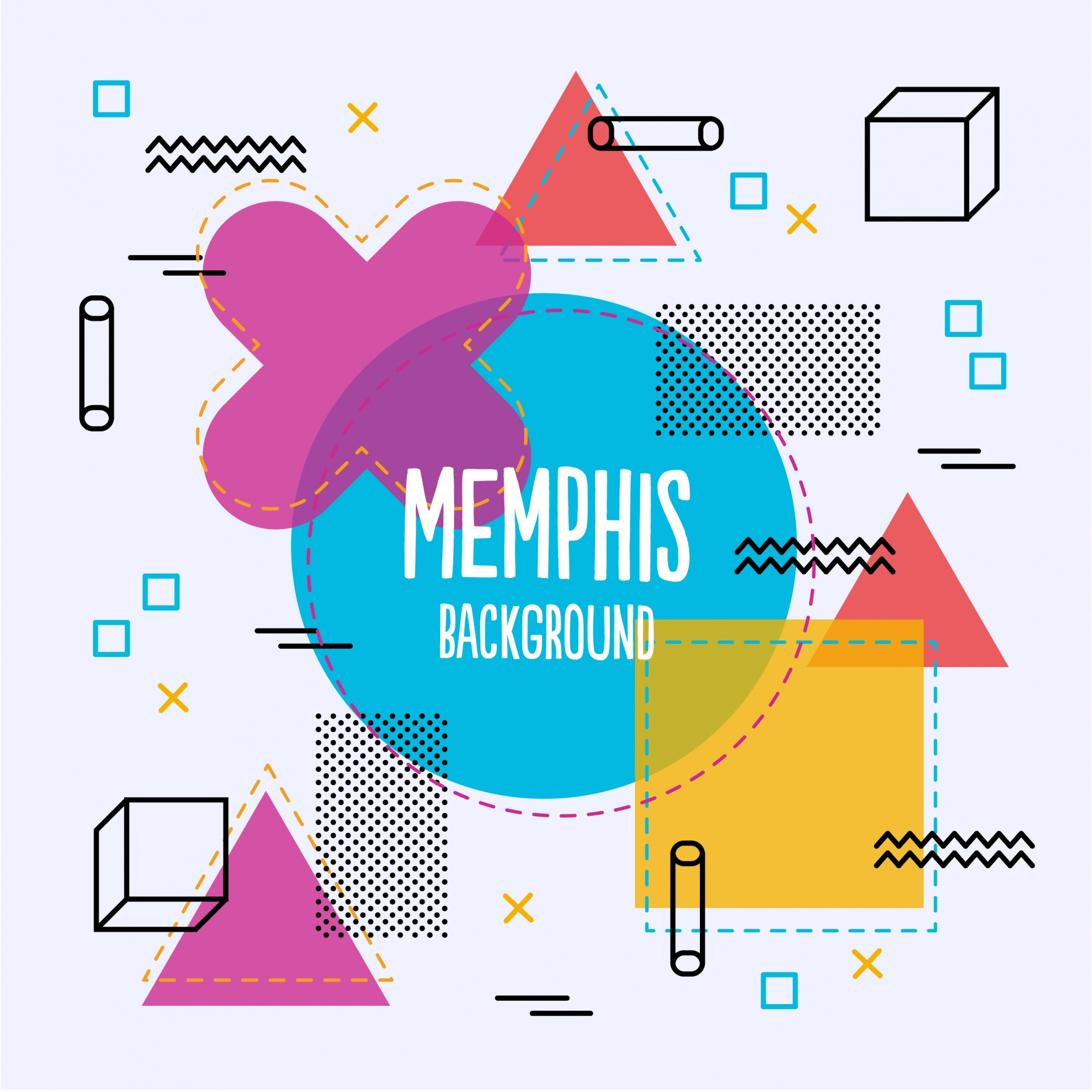 Colorful memphis background