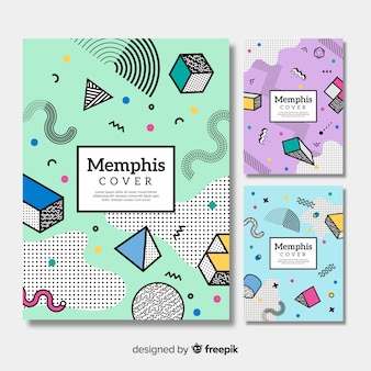 Colorful memphis brochure collection