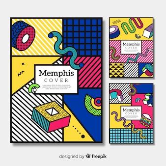 Colorful memphis brochure collection