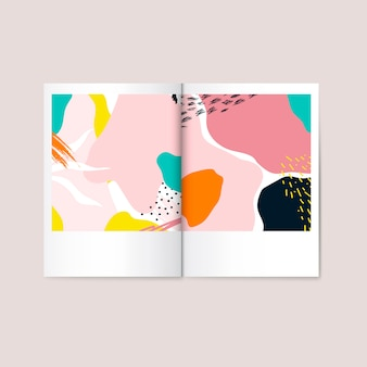 Colorful memphis design magazine vector
