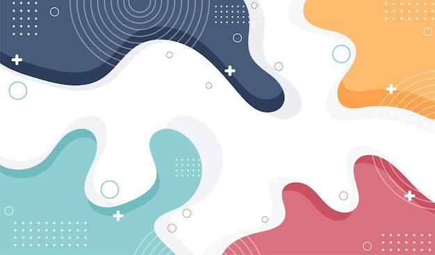 Colorful memphis design