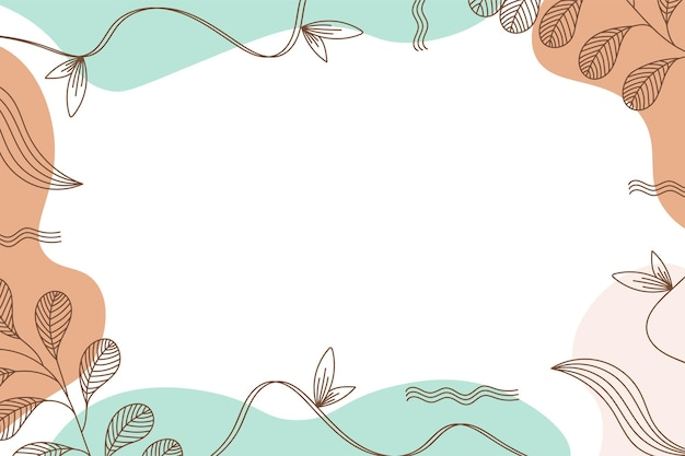 Colorful memphis modern abstract shapes blue orange pastel with leaf backgrounds vector