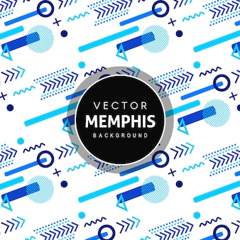 Colorful memphis pattern background