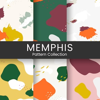 Colorful Memphis pattern design vector