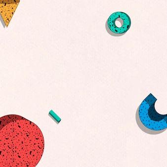 Красочный мемфис с рисунком на бежевом фоне