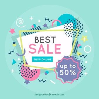 Colorful memphis sale background