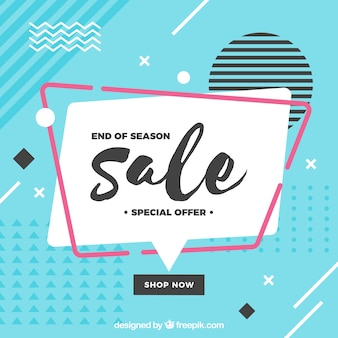 Colorful memphis sale background