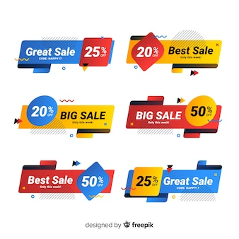 Colorful memphis sale banner pack