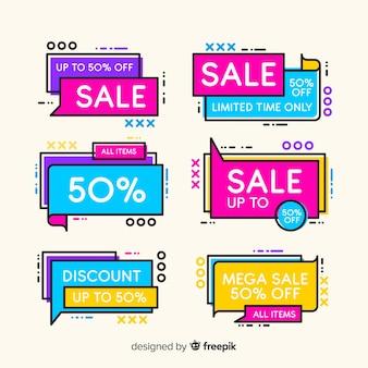 다채로운 멤피스 판매 배너 팩
