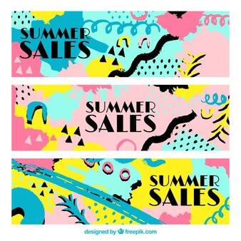 Striscioni colorati di vendita memphis