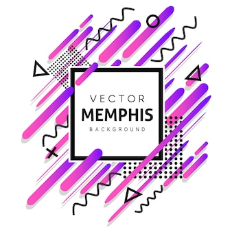 Colorful memphis vector background
