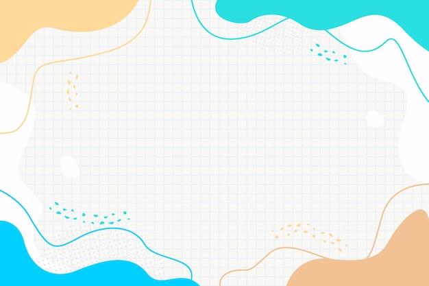 カラフルなメンフィス波液体パンフレットチラシバナーテンプレートデザインの抽象的な背景
