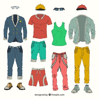 Colorful men's clothings