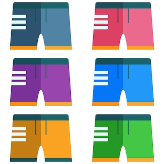 Colorful men's swimming trunks element icon game asset