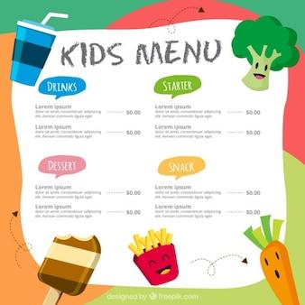 Menù colorato per i bambini