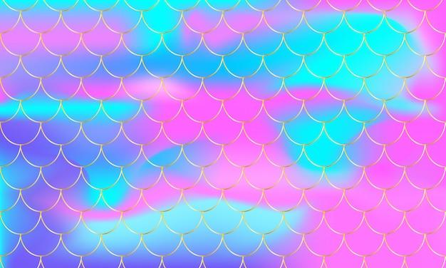 カラフルな人魚の鱗パターン