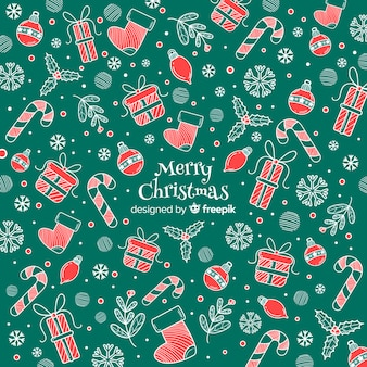 Colorful merry christmas background pattern