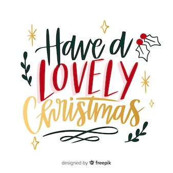Colorful merry christmas lettering