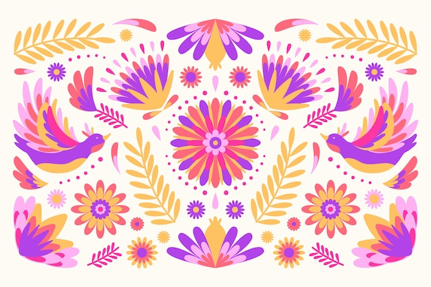 Colorful mexican background decorative