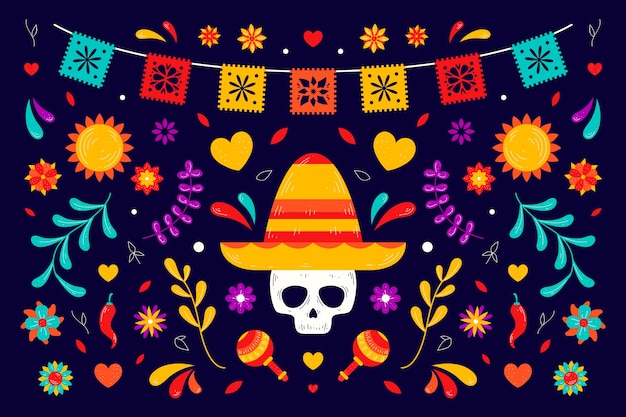 Colorful mexican background design