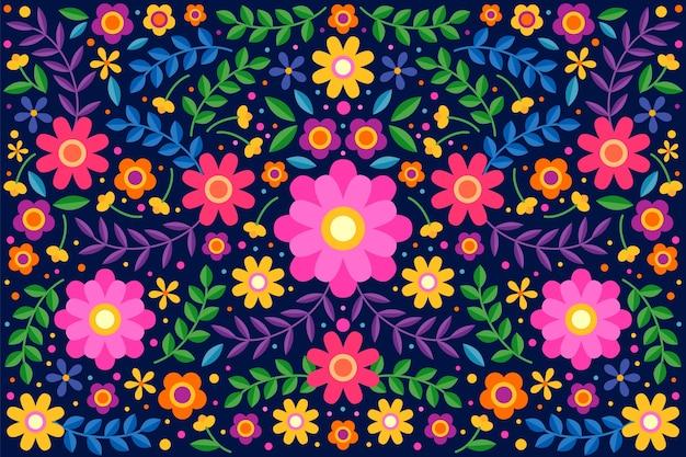 화려한 멕시코 배경 디자인