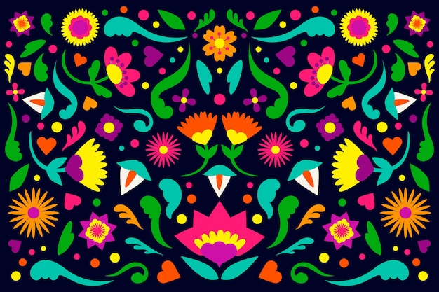 カラフルなメキシコの背景デザイン