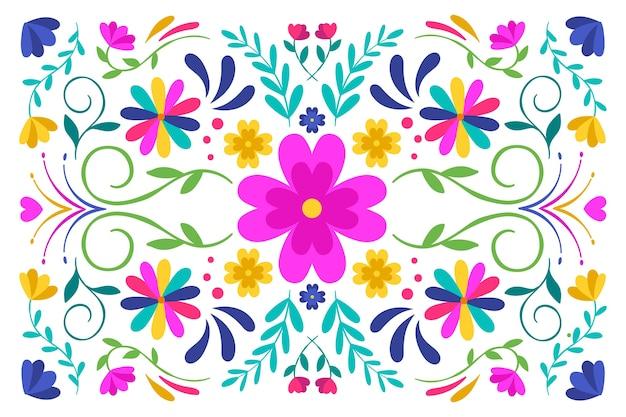 Красочный мексиканский фон в плоском дизайне