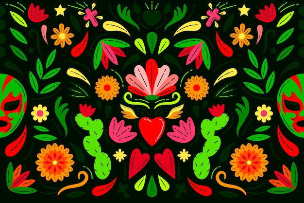 Colorful mexican background style