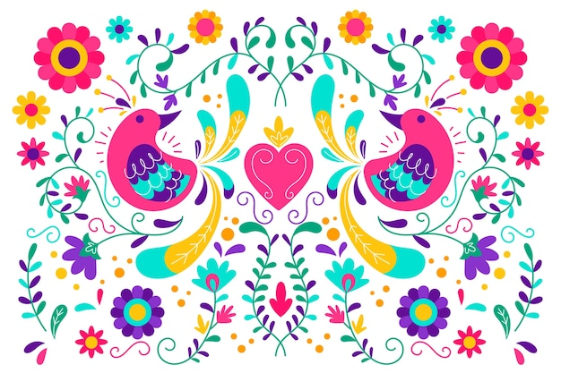 Colorful mexican background